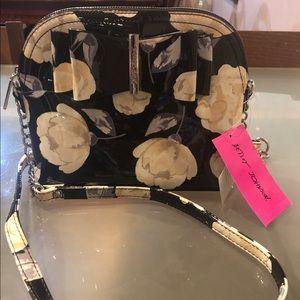Betsey Johnson Crossbody Black Floral Bag